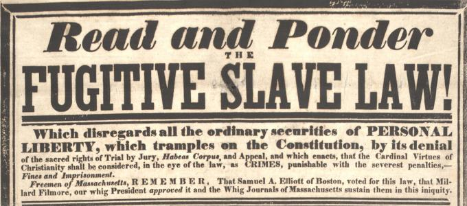 Fugitive-Slave-Act-Newspaper-headline
